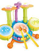 ราคาถูก Special Occasion Dresses-เครื่องใช้ไฟฟ้า Drum Set พลาสติก Cartoon เด็กผู้ชาย เด็กผู้หญิง Toy ของขวัญ