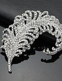 billige Sexy Kropper-Dame Sølv Nåler 3D Kubisk Zirkonium Sølv Brosje Smykker Hvit Til Forretning / Seremoni / Bryllup