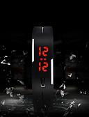 ราคาถูก นาฬิกากีฬา-สำหรับผู้ชาย นาฬิกาแนวสปอร์ต ดิจิตอล ยางทำจากซิลิคอน หลาย-สี ขอสัมผัส LED ดิจิตอล เสน่ห์ แฟชั่น - สีเขียว สีชมพู สีฟ้า หนึ่งปี อายุการใช้งานแบตเตอรี่ / SODA AG4