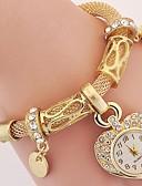 Χαμηλού Κόστους Quartz Ρολόγια-Γυναικεία κυρίες Πολυτελή Ρολόγια Βραχιόλι Ρολόι Ρολόι Καρπού Πεπαλαιωμένο Στυλ Ασημί / Χρυσό απομίμηση διαμαντιών Όμορφο και κομψό Αναλογικό Φυλαχτό Βίντατζ Heart Shape Καθημερινό Μποέμ - Χρυσό Ασημί