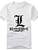 cheap Men's Tees & Tank Tops-Inspired by Death Note Yagami Raito Anime Cosplay Costumes Japanese Cosplay T-shirt Print Short Sleeve T-shirt For Men's / Women's