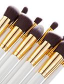 billige Sminkebørstesett-Profesjonell Makeup børster Børstesett 10pcs Bærbar Reisen Økovennlig Profesjonell Full Dekning Tre Sminkebørster til Rougebørste Foundationbørste Øyenskyggebørste Concealer-børste Sminkebørstesett