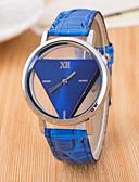 ราคาถูก นาฬิกาข้อมือแฟชั่น-สำหรับผู้หญิง นาฬิกาข้อมือ นาฬิกาอิเล็กทรอนิกส์ (Quartz) PU Leather ดำ / สีขาว / ฟ้า แกะสลักกลวง / ระบบอนาล็อก สุภาพสตรี ไม่เป็นทางการ แฟชั่น - น้ำเงินเข้ม แดง สีชมพู