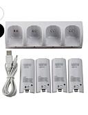 baratos Bandas de Smartwatch-WII Áudio e Vídeo Carregador / Baterias Para Wii U / Wii ,  Mini Carregador / Baterias Metal / ABS 1 pcs unidade