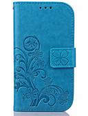 זול מגנים לטלפון-מגן עבור Samsung Galaxy S7 edge / S7 / S6 edge plus ארנק / מחזיק כרטיסים / עם מעמד כיסוי מלא פרח עור PU