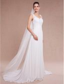ราคาถูก ม่านสำหรับงานแต่งงาน-ชั้นเดียว ตัดมุม ผ้าคลุมหน้าชุดแต่งงาน ผ้าคลุมศรีษะสำหรับชุดแต่งงาน กับ 78.74 นิ้ว (200ซม.) Tulle / Angel cut / Waterfall