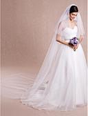 Χαμηλού Κόστους Πέπλα Γάμου-Δύο-βαθμίδων Χωρίς τελείωμα Πέπλα Γάμου Πολύ Μακριά Πέπλα με 118,11 ίντσες (300εκ) Τούλι