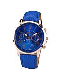 ราคาถูก นาฬิกาข้อมือแฟชั่น-Geneva สำหรับผู้หญิง นาฬิกาข้อมือ นาฬิกาอิเล็กทรอนิกส์ (Quartz) PU Leather ดำ / สีขาว / ฟ้า นาฬิกาใส่ลำลอง ระบบอนาล็อก สุภาพสตรี เสน่ห์ แฟชั่น - สีเขียว ฟ้า สีชมพู หนึ่งปี อายุการใช้งานแบตเตอรี่