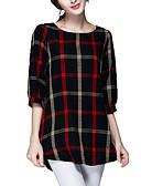 billige T-skjorter til damer-Bluse Dame - Rutet, Racerrygg Gatemote Ut på byen Svart