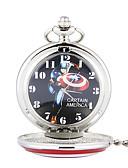 ราคาถูก นาฬิกาสำหรับผู้ชาย-สำหรับผู้ชาย นาฬิกาแบบพกพา นาฬิกาอิเล็กทรอนิกส์ (Quartz) สไตล์วินเทจ รูปแบบคลาสสิก เงิน แกะสลักกลวง ระบบอนาล็อก