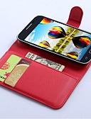 billige Samsung-tilbehør-Etui Til Samsung Galaxy Core Prime Lommebok / Kortholder / med stativ Heldekkende etui Helfarge PU Leather