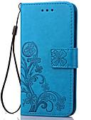 baratos Capinhas para Celulares-Capinha Para Samsung Galaxy S5 Mini / S4 Mini / S3 Mini Carteira / Porta-Cartão / Com Suporte Capa Proteção Completa Flor Macia PU Leather
