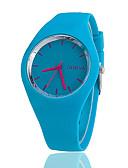 ราคาถูก นาฬิกาข้อมือแฟชั่น-สำหรับผู้หญิง นาฬิกาข้อมือ นาฬิกาอิเล็กทรอนิกส์ (Quartz) ยางทำจากซิลิคอน ดำ / สีขาว / ฟ้า นาฬิกาใส่ลำลอง ระบบอนาล็อก สุภาพสตรี เสน่ห์ ไม่เป็นทางการ แฟชั่น - ฟ้า สีชมพู สีเขียวอ่อน / หนึ่งปี / หนึ่งปี