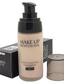 billige Lipgloss-Ensfargede Concealer Foundation 1 pcs Vanntett / Pustende / Bleking Ansikt Naturlig Sminke kosmetisk
