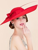 baratos Vestidos para Damas de Honra Junior-Tecido Chapéu de Kentucky Derby / Chapéus com 1 Casamento / Ocasião Especial / Casual Capacete