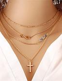 Χαμηλού Κόστους Quartz Ρολόγια-Γυναικεία Κρυστάλλινο Κρεμαστά Κολιέ Πάρτι Γραφείο Καθημερινό Μοντέρνα Κρύσταλλο Κράμα Χρυσό Κολιέ Κοσμήματα Για Γάμου Πάρτι Καθημερινά Causal