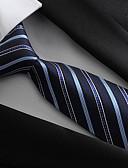 ราคาถูก เน็กไทและโบว์ไท-สำหรับผู้ชาย เส้นใยสังเคราะห์ ปาร์ตี้ / ทำงาน / พื้นฐาน - เน็คไท / Blue