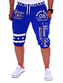 billiga Herrbyxor och shorts-Herr Aktiv / Grundläggande Sport Helgen Ledig / Joggingbyxor / Shorts Byxor - Bokstav Tryck Svart Grå Blå L XL XXL