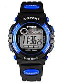baratos Relógio Esportivo-SYNOKE Infantil Relógio de Pulso Digital LCD Calendário Cronógrafo Impermeável alarme Luminoso Borracha Banda Preta