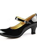 זול נשים טנקים & Camisoles-בגדי ריקוד נשים נעלי ריקוד עור PU / עור פטנט נעליים מודרניות / ריקודים סלוניים אבזם עקבים עקב קובני ללא התאמה אישית אדום / כסף / מוזהב / EU40