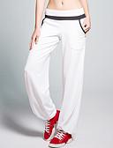 ราคาถูก กางเกงผู้หญิง-CONNY สำหรับผู้หญิง ขากว้าง กางเกงโยคะ Elastane Zumba วิ่ง Pilates กางเกง ด้านล่าง ชุดทำงาน ระบายอากาศ Static-free Sweat-wicking ยืด