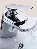 billige Brudepikekjoler-Baderom Sink Tappekran - Foss Krom Centersat Et Hull / Enkelt Håndtak Et HullBath Taps