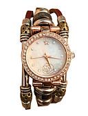 ราคาถูก ชุดเดรสวินเทจ-ของสตรี นาฬิกาสร้อยข้อมือ นาฬิกาอิเล็กทรอนิกส์ (Quartz) นาฬิกาควอตซ์ญี่ปุ่น นาฬิกาใส่ลำลอง หนัง วงดนตรี Vintage สีขาว น้ำตาล ยี่ห้อ