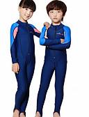 ราคาถูก ชุดดำน้ำ-Dive&Sail เด็กผู้ชาย เด็กผู้หญิง ดำน้ำที่เหมาะกับสภาพผิว ชุดดำน้ำ SPF50 การป้องกันรังสียูวี แห้งเร็ว Full Body ซิปรูดด้านหน้า - การว่ายน้ำ การดำน้ำ Surfing ลายต่อ / สำหรับเด็ก