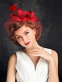 billige Hatter til damer-Tyll / Fjær fascinators med 1 Spesiell Leilighet Hodeplagg