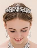 Χαμηλού Κόστους Αξεσουάρ για τα μαλλιά των γυναικών-Στρας / Κράμα Τιάρες με 1 Γάμου Headpiece