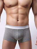 baratos Roupas Íntimas e Meias Masculinas-Homens Patchwork Super Sexy Boxer Curto Estampa Colorida 1 Peça Preto Branco Laranja M L XL
