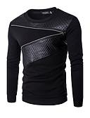 זול חולצות לגברים-צווארון עגול טלאים, קולור בלוק טרנינג שרוול ארוך פעיל בגדי ריקוד גברים