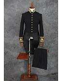povoljno Odijela-Crn Jednobojni Standardni kroj Poliester Odijelo - Mandarin Collar Droit à plusieurs boutons / odijela
