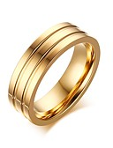 billige Mekaniske Ur-Herre Band Ring Statement Ring Groove Rings Gylden Titanium Stål Mote Bryllup Fest Smykker