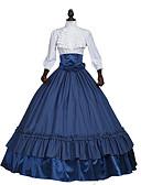 ราคาถูก ชุดชั้นในสำหรับงานแต่งงาน-ราชินีอลิซาเบ ธ Rococo Victorian Medieval ศตวรรษที่ 18 หนึ่งชิ้น ชุดเดรส Party Costume Masquerade สำหรับผู้หญิง ลูกไม้ ซาติน เครื่องแต่งกาย ทับทิม / น้ำเงินเข้ม Vintage คอสเพลย์ ปาร์ตี้ Prom แขนยาว