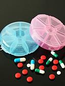 povoljno Zaštita ekrana tableta-korisna prenosiva 7-dnevna pilula kutija vitaminska pilula sigurno kućište velika pretinca (ramdon boja)