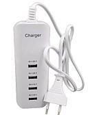 billige ladeplugg-Stasjonær lader USB-lader Eu Plugg Flere porter 4 USB-porter 2 A / 1 A til