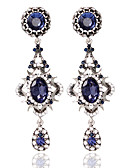 billiga Cocktailklänningar-Dam Ringformade Örhängen Mode örhängen Smycken Blå Till Bröllop