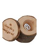 ราคาถูก ของชำร่วยงานแต่งที่แขวน-รอบ Square Cylinder ไม้ Holder โปรดปราน กับ Printing กล่องของขวัญ - 1