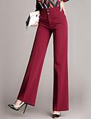 billige Tights til damer-Dame Gatemote Store størrelser Arbeid Løstsittende Bedrift Bukser - Ensfarget / Blonder Bomull Navyblå Vin XXL XXXL XXXXL
