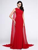 זול שמלות נשף-בתולת ים \ חצוצרה עם תכשיטים שובל וואטו (מתחבר בצוואר) שיפון ערב רישמי שמלה עם אסוף על ידי TS Couture®