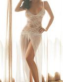 olcso Romantikus csipke-Női Csipke Sexy Ultra szexi Hálóruha Jacquardszövet Fehér M L XL / V-alakú
