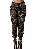 cheap Women's Pants-Women's Street chic Daily Sports Skinny / Chinos Pants - Color Block Green L XL XXL