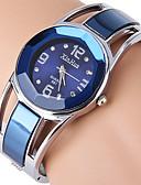 baratos Relógios de Pulseira-Mulheres senhoras Bracele Relógio Simulado Diamante Relógio Quartzo Aço Inoxidável Preta / Azul Com Strass imitação de diamante Analógico Rígida Fashion Relógio Elegante - Preto Azul marinho Branco