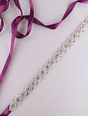 Χαμηλού Κόστους Νυφικά-Σατέν Γάμου / Πάρτι / Βράδυ / Καθημερινή Ένδυση Ζώνη Με Τεχνητό διαμάντι / Χάντρες Γυναικεία Ζώνες για Φορέματα