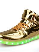 Χαμηλού Κόστους Δέρμα-Ανδρικά Παπούτσια άνεσης Λουστρίν Άνοιξη / Φθινόπωρο LED Χωρίς Τακούνι Αντιολισθητικό Χρυσαφί / Ασημί / Κόκκινο / Αθλητικό / Κορδόνια / EU40
