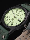 Χαμηλού Κόστους Πολυτελή Ρολόγια-Ανδρικά Αθλητικό Ρολόι Μοδάτο Ρολόι Στρατιωτικό Ρολόι Χαλαζίας Δέρμα Πράσινο Ανθεκτικό στο Νερό Ημερολόγιο Νυχτερινή λάμψη Αναλογικό Βίντατζ Καθημερινό Αριστο - Πράσινο