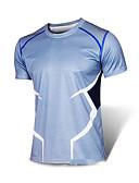 billige Gensere til damer-Herre T-skjorte til jogging Klassisk Elastan Løp Trening & Fitness T-Trøye Genser Topper Kortermet Sportsklær Pustende Fort Tørring Refleksbånd Svettereduserende Bekvem Uelastisk