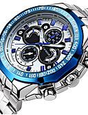 ราคาถูก นาฬิกาสวมใส่เข้าชุด-สำหรับผู้ชาย นาฬิกาข้อมือ นาฬิกาอิเล็กทรอนิกส์ (Quartz) นาฬิกาควอตซ์ญี่ปุ่น สแตนเลส เงิน 30 m กันน้ำ ปฏิทิน noctilucent ระบบอนาล็อก ความหรูหรา คลาสสิก ไม่เป็นทางการ นาฬิกาตกแต่งข้อมือ - ขาว สีดำ ฟ้า