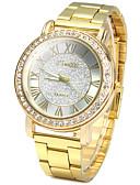 baratos Relógios de quartzo-Homens Relógio de Pulso Relógio Pavé Relógio de diamante Quartzo Aço Inoxidável Dourada imitação de diamante / Analógico senhoras Vintage Casual Relógio simulado de diamantes Fashion - Dourado Um ano